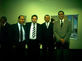 Juiz Átila Naves Amaral (Pres. da ASMEGO), Juiz Jerônimo Pedro Villas-Boas, Dr. Jean Jardim, e Juiz William Fabian