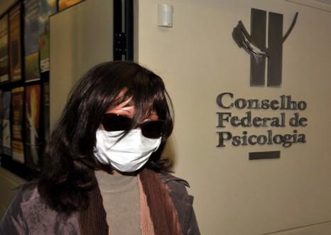 Rozangela Justino em julho de 2009, aquando da confirmação da censura pública pelo CFP