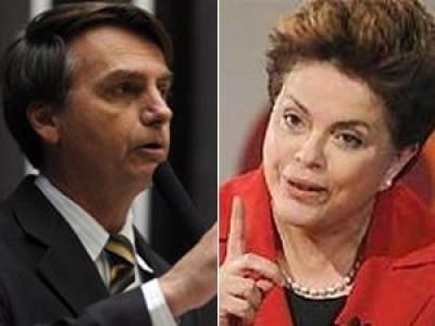 """""""Dilma Rousseff, pare de mentir! Se gosta de homossexual, assuma! Se o seu negócio é amor com homossexual, assuma, mas não deixe que essa covardia entre nas escolas do primeiro grau!"""""""