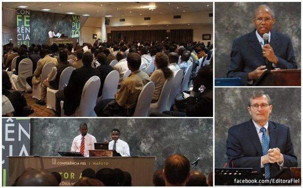 Primeira Conferencia FIEL em Maputo, capital de Moçambique. Preletores: Joel Beeke (USA), Ronald Kalifungwa (Zâmbia) e Jaime Marcelino (Brasil)