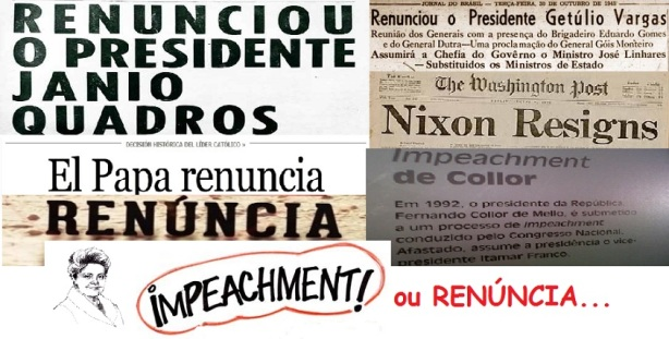 impeachment ou renúncia